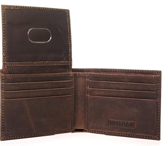 best bifold flip up wallet