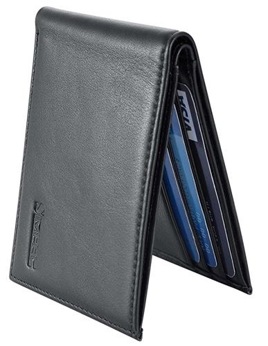 best slim leather bifold wallet