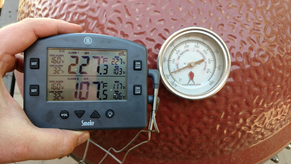 kamado joe temperature comparison to thermoworks smoke